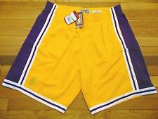MITCHELL & NESS NBA HWC LOS ANGELES LAKERS GOLD 1996-97 SWINGMAN SHORTS SIZE 3XL