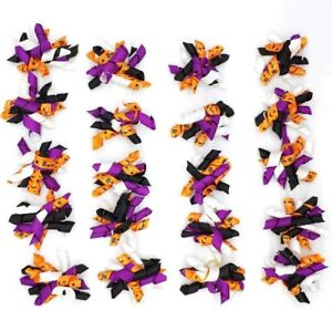 20pcs/Pack Halloween Pet Dog Cat Hair Bows Puppy Grooming Bows Hair Accessories