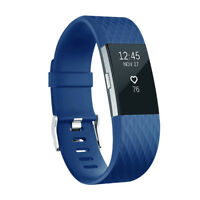 Fitbit Classic Band for Charge 2 Fitness Sport Activity, Blue, Silicone, Large