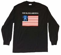 Ozzy Osbourne Ozz Bless America Tour 2001 Black Long Sleeve Shirt L New Official