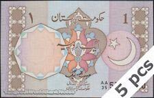 TWN - PAKISTAN 26b - 1 Rupee 1982 UNC Prefix AA/35 DEALERS x 5
