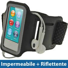 Nero Sports Armband per Apple iPod Nano 7 Gen Generazione 7G 16GB Fascia Braccio