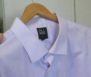 Jos A Bank Lavender Traverler Non Iron Dress Shirt 20 X 35 BIG MAN