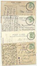 1906  4 x TEIGNMOUTH SKELETON POSTMARKS ON PPCs ALL DIFF DATES - DEVON
