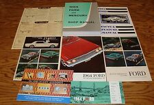 1964 Ford Full Size Car Shop Service Manual Owners Sales Brochure 9 Piece Lot 64