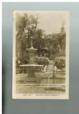 1931 Brisbane Australia Botanical Gardens Rppc Real Picture Postcard Cover to Us