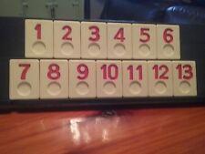 Rummikub Replacement Tiles Set of 13 Red 1990 Vintage Pressman game pcs