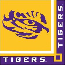 LSU Tigers Paper Beverage Napkins 20 ct Tailgating Football Party