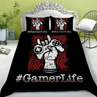 Gamepad Bedding Set for Boys Gamer Comforter Duvet Cover Set for Bedroom