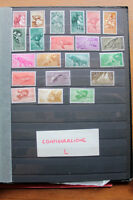 LOT STAMPS COLONIES SPAIN TOPICAL ANIMALS BIRDS FLOWERS FISH MNH** (coL)