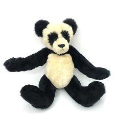 "Vintage Artist Teddy Ling Panda Plush Jointed Nac-B Bears Seam Label 18"""