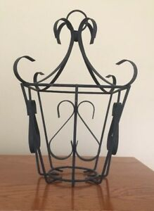 Vintage Hanging Wrought Iron Candle Lantern