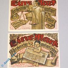2 x Notgeld Tonndorf Lohe , 2 x 1 Mark ,M/G 1330.4 german emergency money , kfr