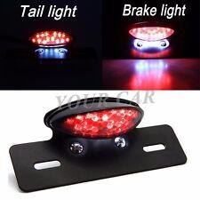 Smoke Motorcycle 19 LED Brake Tail Light License Plate Bracket Holder Cafe Racer