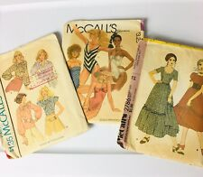 Lot Of 3 Vintage McCalls Size 14 Misses' Sewing Patterns 1970's-1980's Styles