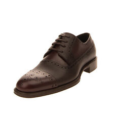 RRP€550 DOLCE & GABBANA Leather Derby Shoes EU 41 UK 7 US 8 Brogue Made in Italy