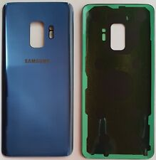 Samsung Galaxy S9 Blau Akkudeckel Backcover  Rückseite GlasCoral Blue