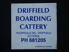 DRIFFIELD BOARDING CATTERY THORPDALE RD 681205 COASTER