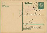 """DT.REICH 1932 Friedrich Ebert 8 Pf dunkelgrün Kab.-GA-DOPPEL-Postkarte """"GERA"""""""