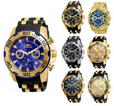 Invicta Men's Pro Diver Chrono 100m Stainless Steel/Black Silicone Watch
