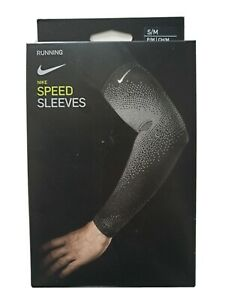 NIKE RUNNING SPEED ARM SLEEVES ENGINEERED MESH KNIT COMPRESSION S/M