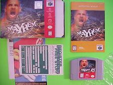 N64 WCW Mayhem Video Game Complete w.Box Manual Registration Card Near Mint