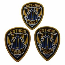 "Batman Gotham Police Dept Logo 4 1/2"" Tall Embroidered Iron on Patch Set of 3"