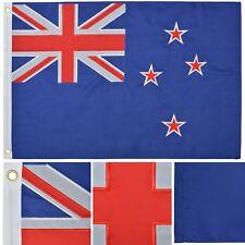 New Zealand Flag 2' x 3' Ft 210D Nylon Premium Outdoor Embroidered Kiwi Flag