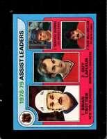 1979-80 TOPPS #2 BRYAN TROTTIER/GUY LAFLEUR/MARCEL DIONNE/BOB MACMILLAN N *X5271