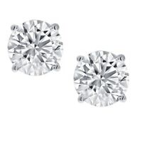 1/3ct Round Diamond Stud Earrings set in 14K White Gold