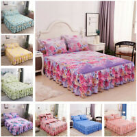Fashion Bed Skirt Pillowcases Bedding for Home Bedroom Full Queen King Size