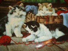 Norfolk Royal Fine Bone China Large Collectors Plate SPINNING A YARN Kittens #2