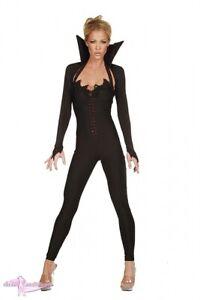 Halloween Kostüm Kleid Gr.38-40 schwarz Strass Overall Jäckchen
