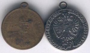 Table medal AD40 Oscar II King of Sweden Coin Reverse Austria Pendants 22mm (2 p
