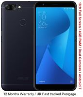 "Asus Zenfone 4S Max Plus X018DC 5.7"" Octa Core 4GB RAM Android 7 Dual Cameras"
