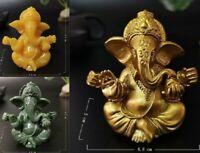 Gold Lord Ganesha Buddha Statue Elephant God Sculptures Ganesha Figurines Stone