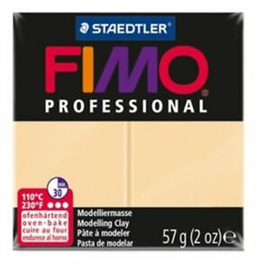 4 blocks of Fimo Professional Soft Polymer Clay 2oz champagne