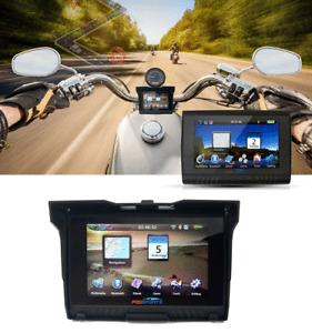 5inch WiFi BT Motorcycle Car GPS Navigation SAT NAV Bluetooth Maps 8GB Navigator