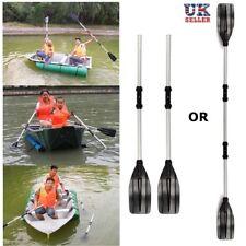 2Pcs 125cm Detachable Paddle Aluminum Afloat Kayak Oars Boat Rafting Canoe Tools
