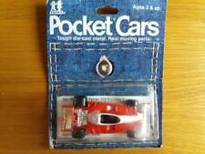 Raros TOMICA POCKET CARS FERRARI 312 F1 coche menta en tarjeta de la ampolla