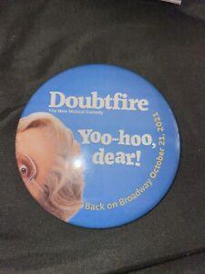 mrs doubtfire broadway musical button pin first night re opening oct 2021