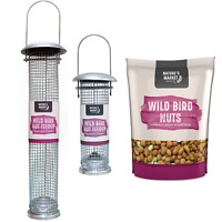 Wild bird nut peanut feeder & feed bags combinations small large