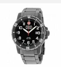Wenger 01.1341.208 off Road Men's 43mm Titanium Black Dial Swiss Watch