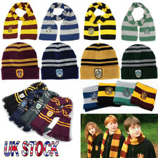 HOT Sell Harry Potter Scarf Hat Gryffindor Slytherin Ravenclaw Hufflepuff