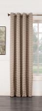 Sun Zero Ramsey Woven Jacquard Room-Darkening Grommet Panel Linen 50 x 63