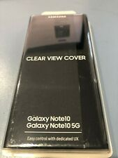 Genuine Samsung Galaxy Note10 / Note10 5G Clear View Cover/Case Slim - Black