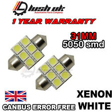 Interior 2 x WHITE LED 31mm 6xSMD Light Bulb For Mitsubishi Shogun/Pajero 91-00