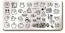 Rabbit Design Nail Art Manicure Stamping Image Plate Stencil L017