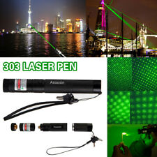 200Miles Visible Green Laser Pointer Pen 532nm Beam Light 18650 Astronomy Lazer