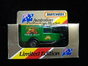MATCHBOX MB44 MODEL A VAN ROWNTREE'S TABLE JELLY Ltd Ed. GOLD NEW in OPENED BOX